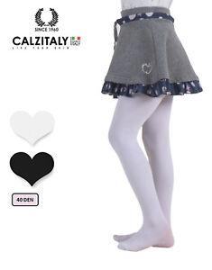 3-Paia-Collant-Bambina-Calzamaglia-Bimba-40-Den-Bianchi-e-Neri-CALZITALY