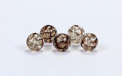 10 Acryl Crackle Crack Crash Perlen Perle Rund 12mm Farbauswahl
