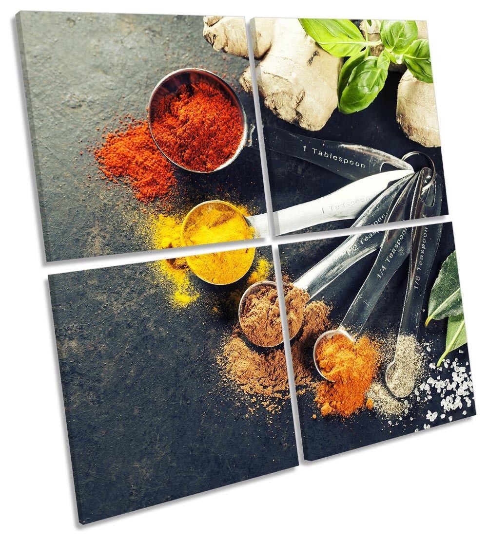 Curry spezie erbe cucina foto art. a muro Multi Multi Multi quadrato 170e7b