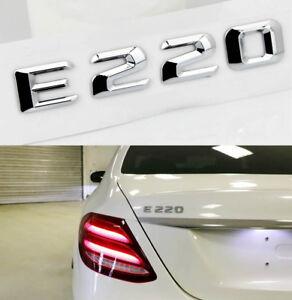 3D-ABS-Auto-Car-Emblem-Sticker-Aufkleber-Abzeichen-fuer-Mercedes-Benz-E220