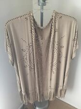 maurices plus size 2x 3x faux suede jacket with lace and fringe
