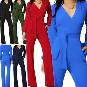Women-Jumpsuit-Romper-Long-Sleeve-Pants-Playsuit-Clubwear-Trousers-Dress-Outfit