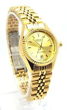 New Citizen Date Window, Gold-dial,  Ladies Dress Watch