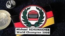 Michael Schumacher Pin Badge Formel 1 World Champion Schumi Helm Ehrenkranz