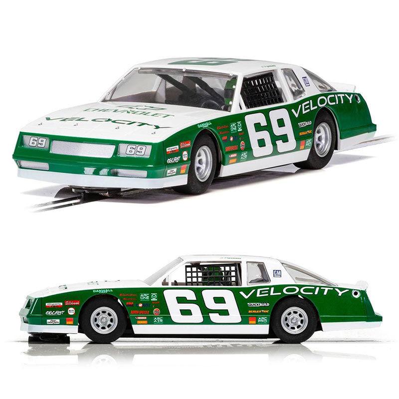 SCALEXTRIC SCALEXTRIC SCALEXTRIC Slot Car C3947 Chevrolet Monte Carlo 1986 - No.69 Green e48a4d