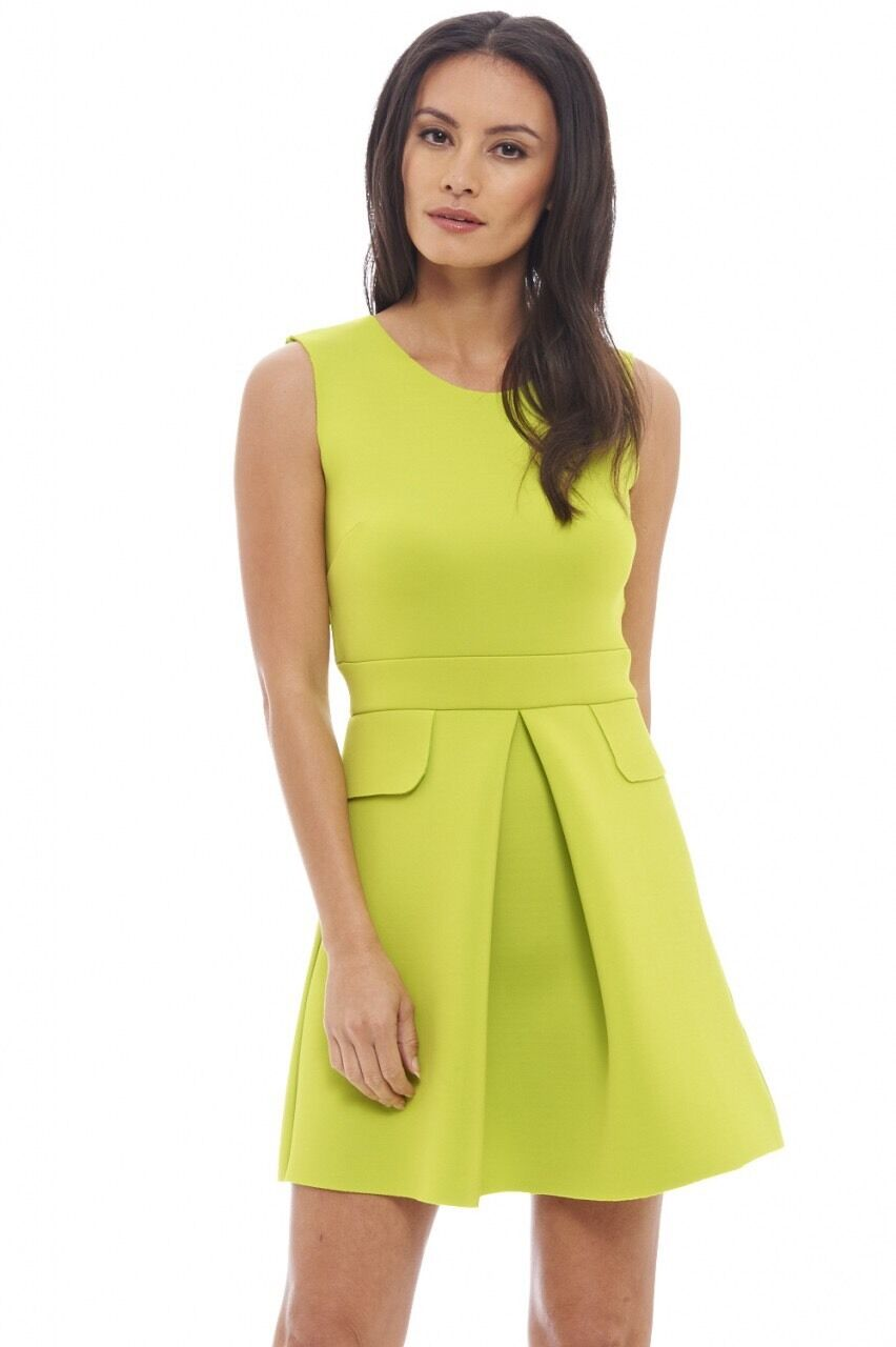 c1e74ee18499 AX Paris Scuba Lime Evening Occasion Dress Size 12 NEW BNWT oqsksq2429- Dresses