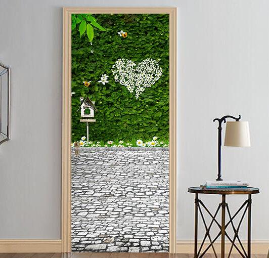 3D Grüne Blätter Tür Tür Tür Wandmalerei Wandaufkleber Aufkleber AJ WALLPAPER DE Kyra | Quality First  | ein guter Ruf in der Welt  | Verkauf  71a7a0