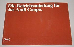 Betriebsanleitung-Bedienungsanleitung-Audi-Coupe-Typ-81-Stand-August-1981