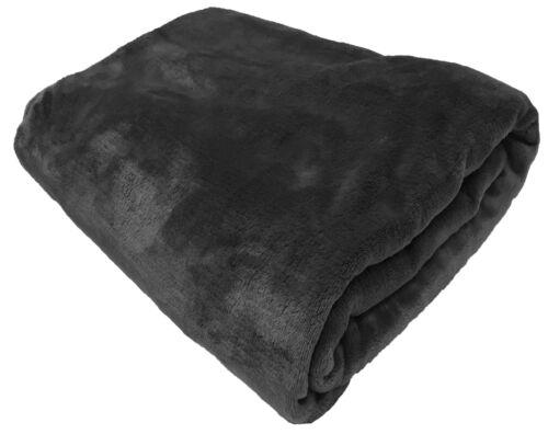 FAUX FUR FLEECE THROW SOFT WARM MINK LARGE SOFA BED BLANKET 10 COLOURS 4 SIZES