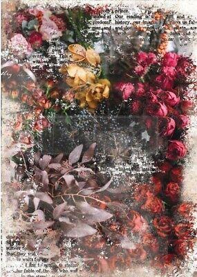 for Re-Design Prima Zola Floral Tissue Decoupage Paper 19 x 30 Verits Supplier for Home /& Garden
