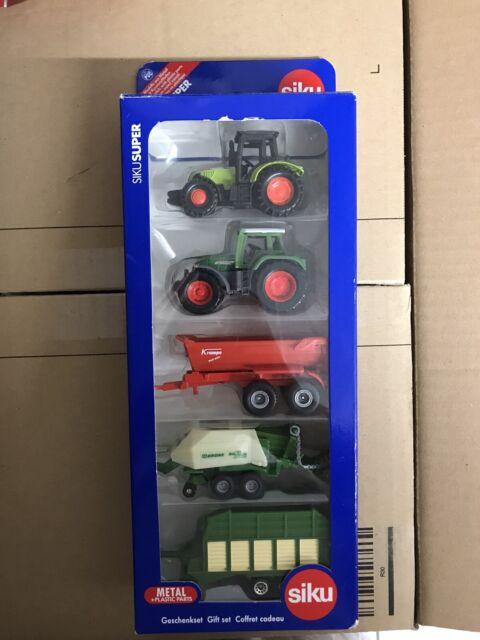SIKU 6286 Super Geschenkset 7 SIKU Landmaschinen Farmfahrzeuge Spiel Spielzeug s