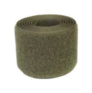 2 m. Cinta cierre coser 50mm verde oliva pelo agarre textil 5 cm loop green