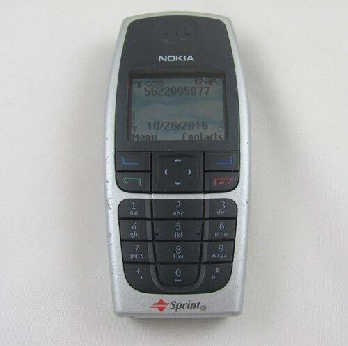 Nokia 6016i Sprint Cell Phone Java w/Travel Chrger