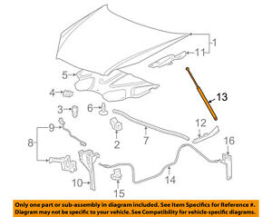 Details about Chevrolet GM OEM 06-11 Impala Hood-Lift Support Strut Shock  Prop Arm 15833919