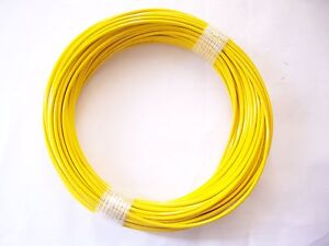 YELLOW Vinyl Coated Wire Rope Cable,1/16 - 3/32, 7x7, 100 ft Coil ...