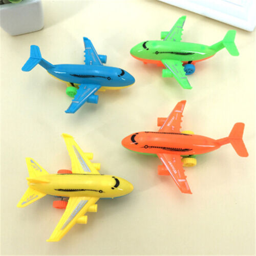 2Pcs Durable Air Bus Airplane Model Toy Pull Back Planes Kids Vehicles FO