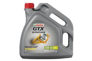 Castrol GTX Ultraclean 10W40 A3/B3 4 Litri Olio Motore per Auto