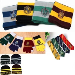 Harry-Potter-Sciarpa-Cappello-Guanti-Touch-Cravatte-Cosplay-Hogwarts