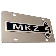 LINCOLN MKZ Metal Mirror Finish Stainless Steel License Plate Sign Tag