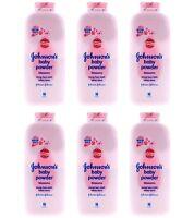 6 X Johnsons Baby Powder Pink Blossom 100g / 3.3 Oz Each