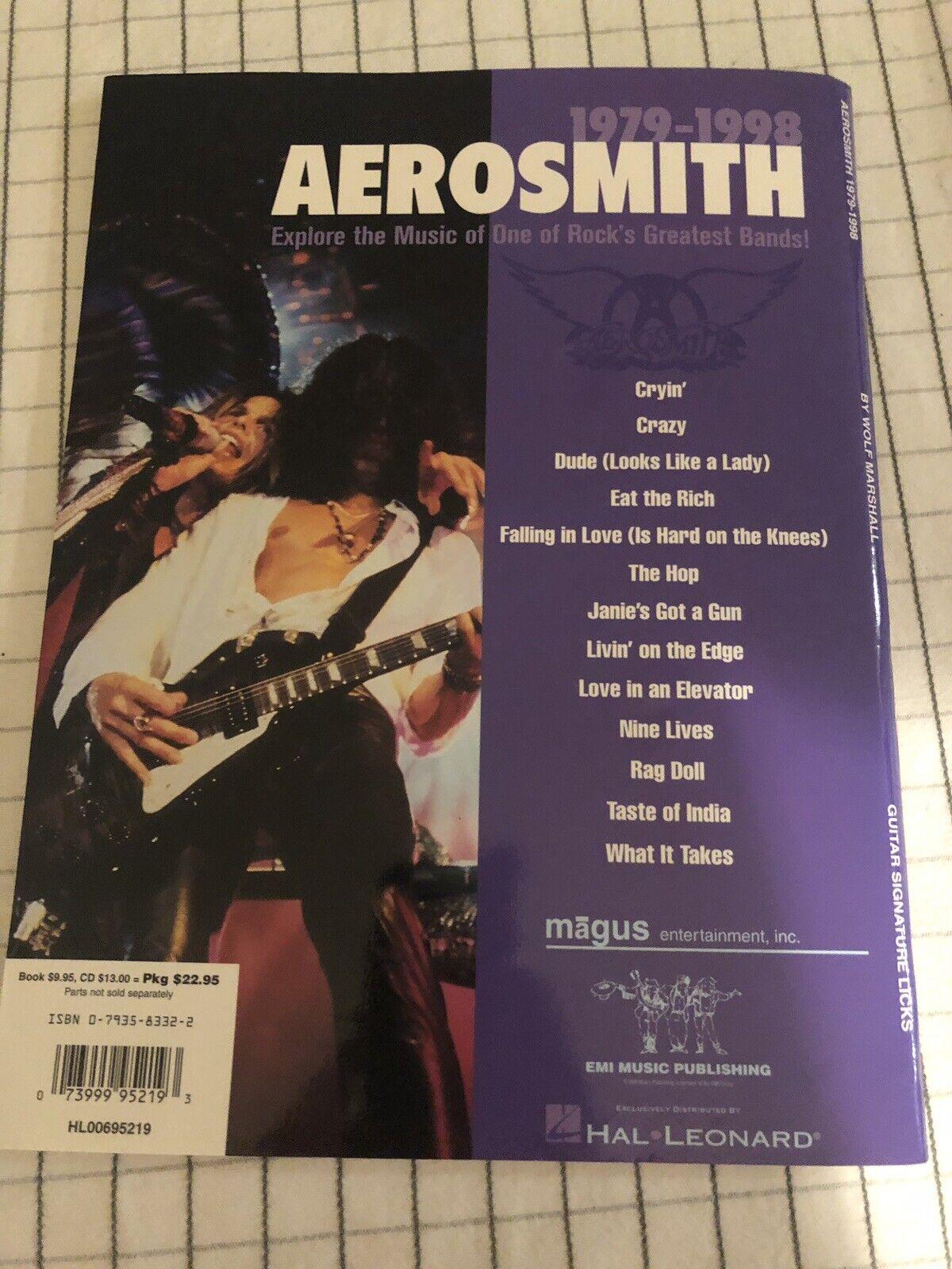 Aerosmith 1979-1998 Sheet Music Signature Licks Guitar Book and CD 000695219