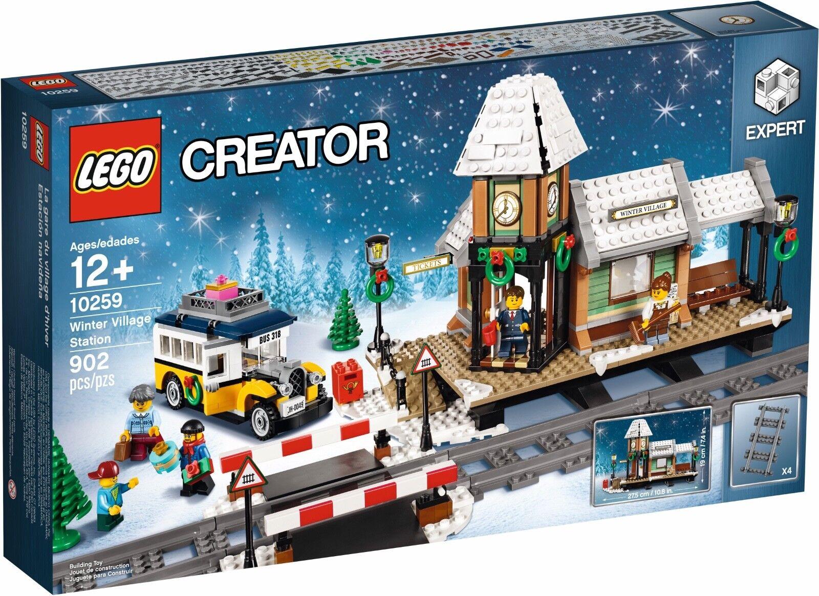 Lego creator winter dorf bahnhof (10259) versiegelten kiste - weihnachtsbaum