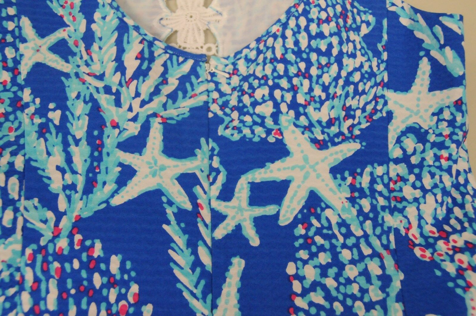 New Lilly Pulitzer Ember Shift Brewster Blue Good Reef Dress Starfish 2 4 8 10