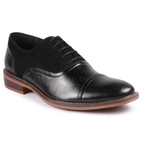 Men/'s Cap Toe Lace Up Oxford Classic Dress Shoes