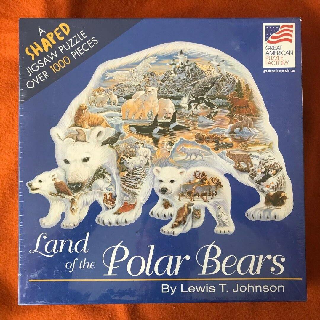 Terre des ours polaires en forme de puzzle 1000 pièces (NEUF)