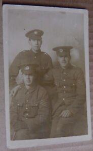 Postcard-WW1-Soldiers-Essex-Regiment-NCO-039-s-sergeant-Corporals-Real-Photo
