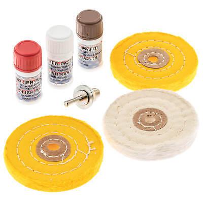 Heerlijk Polierset 7-tlg. Polierscheiben 100 Mm Polierpaste Alu Felgen Polieren Aluminium Een Plus Een Gratis