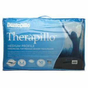 Dunlopillo Therapillo Memory Foam Medium Profile Cooling Gel Pillow - White