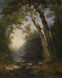Asher-Brown-Durand-The-Catskills-Walters-summer-landscape-on-canvas