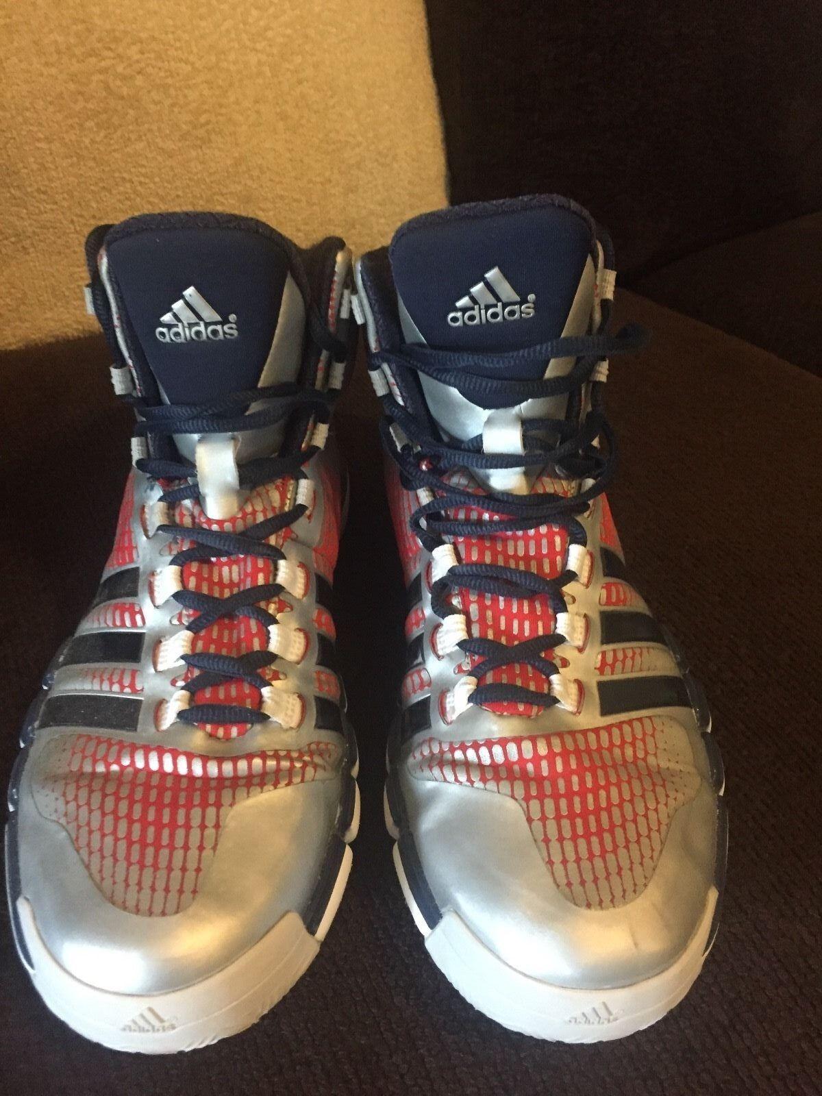 Adidas John shoes Wall CrazyQuick Silver/Blue/Red Basketball shoes John 6ad991
