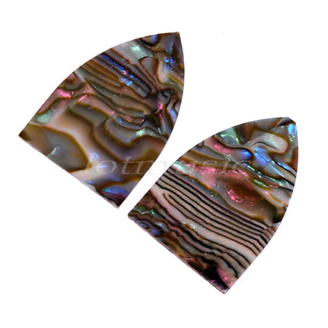 2pcs 40mm x 26.5mm Guitar Truss Rod Cover Abalone Pearl Guitar Cover Parts