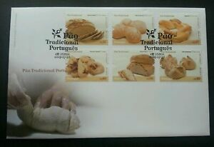 SJ-Portugal-Traditional-Pao-2009-Bread-Food-Cuisine-Gastronomy-stamp-FDC