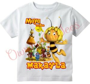 Details about MAYA the BEE Custom T-shirt PERSONALIZE Birthday, gift, ADD  NAME,