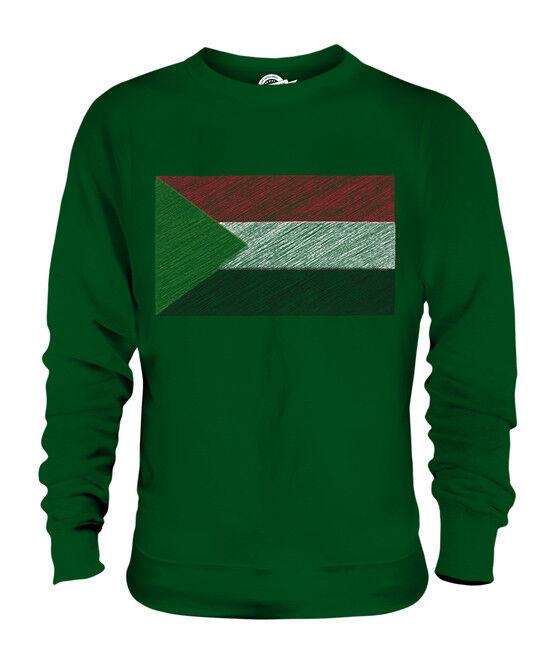 SUDAN KRITZELTE FLAGGE UNISEX SWEATER PULLOVER PULLI SWEATSHIRT HERREN HERREN HERREN DAMEN | Gewinnen Sie das Lob der Kunden  | Hochwertige Produkte  | Economy  53386e