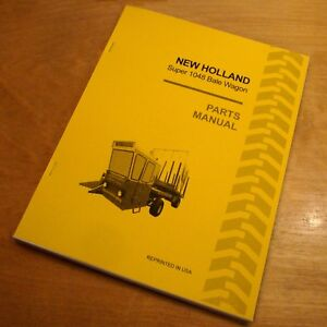new holland super 1048 bale wagon stackliner parts catalog book list rh ebay com New Holland AG New Holland AG