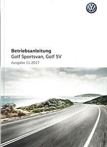 VW-GOLF-SPORTSVAN-SV-Betriebsanleitung-2017-18-Bedienungsanleitung-Handbuch-BA