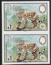 Belize (1260) - 1983 WWF Jaguar $1 IMPERF PAIR unmounted mint
