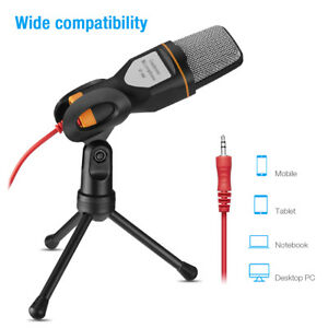Professional-Audio-Microphone-Mini-Stand-Tripod-Studio-Recording-For-PC-Desktop