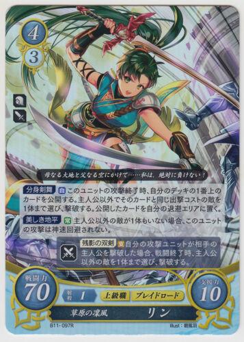 Lyndis B11-097R Fire Emblem 0 Cipher Card Game Booster Part 11 Lin
