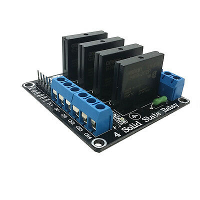 2pcs 5v 4 Channel OMRON SSR G3MB-202P Solid State Relay Module For Arduino