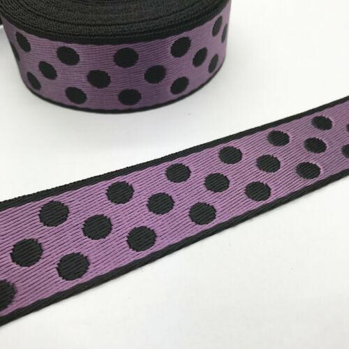 2//5//10 Yards 1inch 25mm Five stars LOVE pattern Nylon Webbing Strapping Sewing#U
