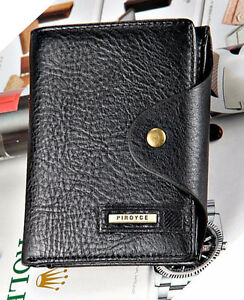 New-Black-Men-s-Wallet-Leather-Guaranteed-Quality-Leather-purse-with-coin-pocket
