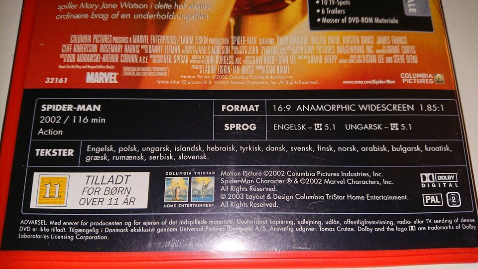 Spider-man, DVD, action