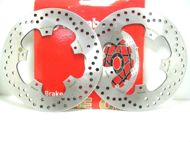 PAR 2 DISCOS FRENO DELANTEROS BREMBO 68B407B7 PIAGGIO BEVERLY E3 500 08 2009