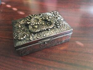 chinese antique Tibetan copper Anlique Adult Blessing Box