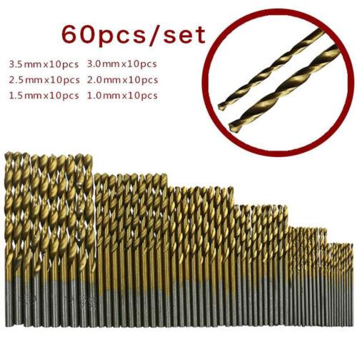 60PCS High Speed Steel Titanium plated Hexagonal Screwdriver Twist Drill Set Kit